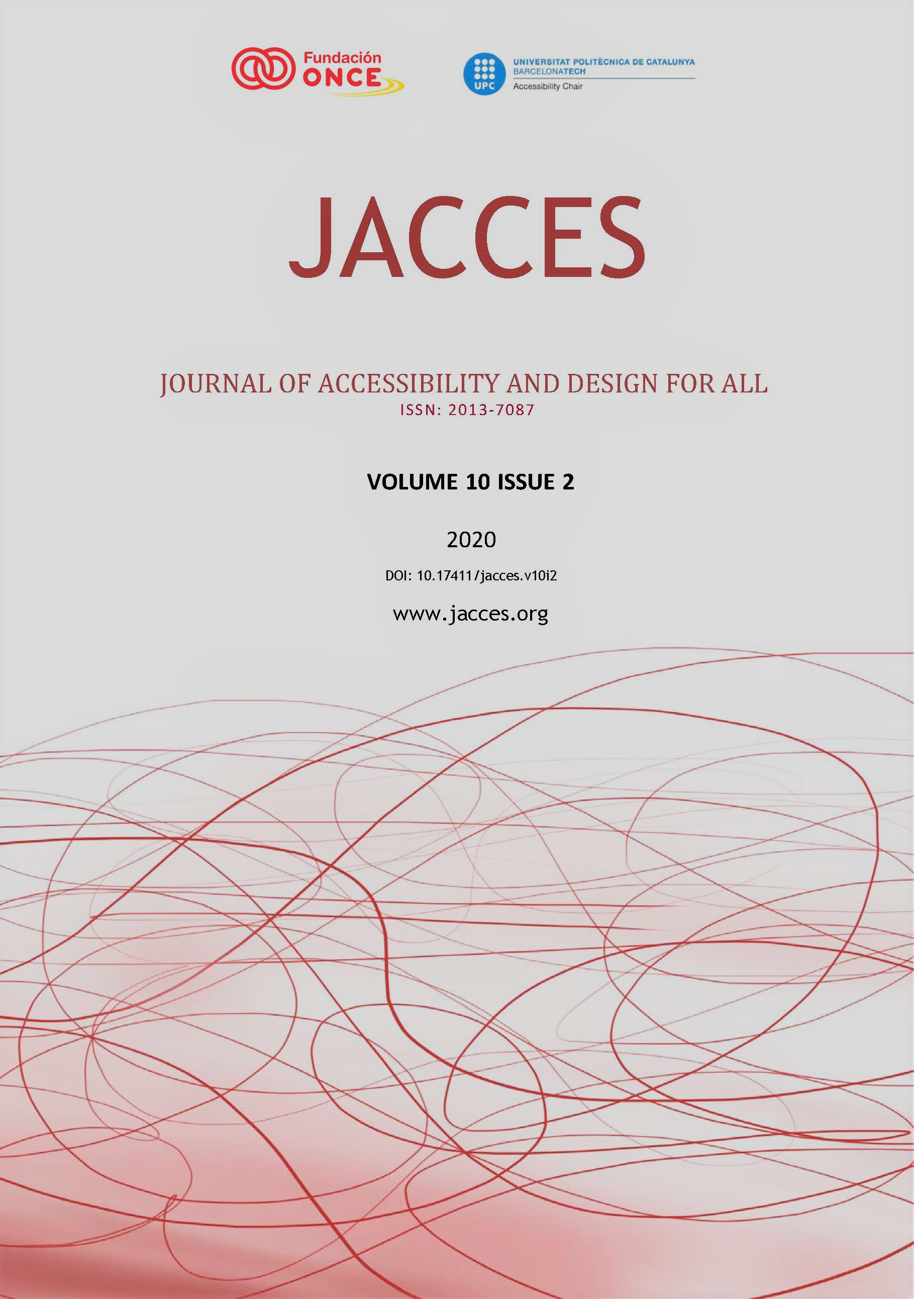 View Vol. 10 No. 2 (2020): Journal of Accessibility and Design for All